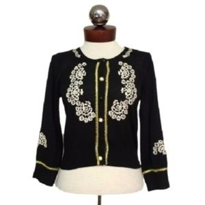 TWELVE BY TWELVE embroidered cardigan sweater
